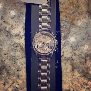 NY@Company stainless steel watch.